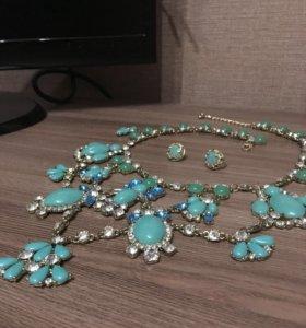 Ожерелье Серьги