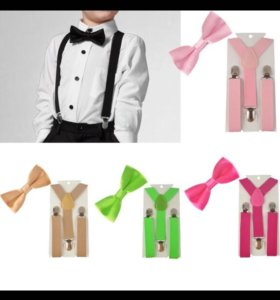 Новые детские комплекты : подтяжки и галстук-бабоч