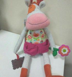 Мягкая игрушка для девочки с прорезывателем