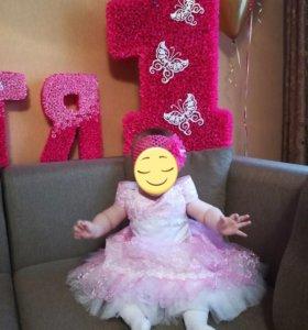 Пышное платье для девочки 1-1.5 лет