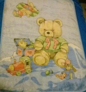 Любимый плед детский одеяло в кроватку 140×108 см