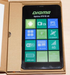 Планшет Digma Optima 8701B 4G новый