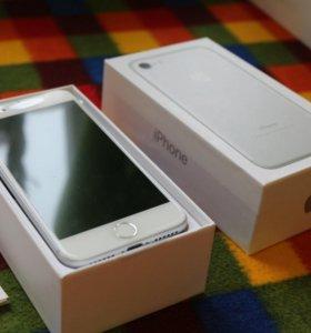 iPhone 7 Silver, новый, 1 год гарантия