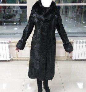 Пальто из меха пони
