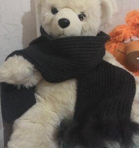 Новый шарф с мехом кролика