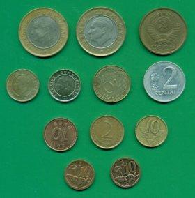 Монеты импортные и рубли СССР