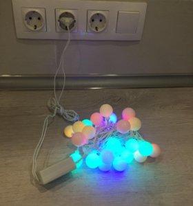 Гирлянда LED, Крупные матовые шарики