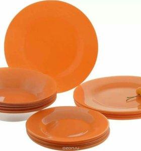 набор посуды 24 тарелки pasabahce orangе