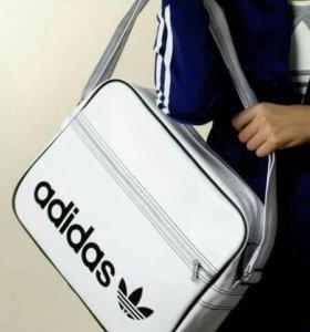 сумка adidas кожаная спортивная