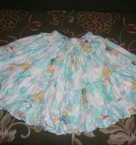 ярусная трикотажная юбка с русалками