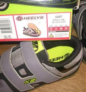 роликовые кроссовки хилис - новые