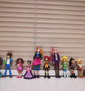 Сет мини-кукол.