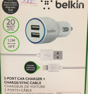 АЗУ belkin 2.1A iphone Lightning