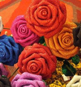 Розы из фуамирана