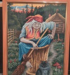 картина, вышивка крестом