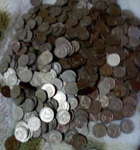 Монеты СССР 10 И 1 КОПЕЕК