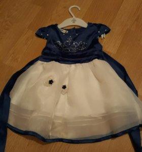 Платье для девочки одето 1 раз