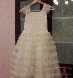 Платье детское праздничное, 7-9 лет