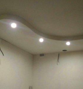 Укладка ламината. Обшив стен, потолка ГКЛ.