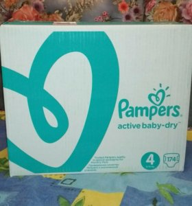 Pampers Active Baby-Dry 4 (8-14 кг) 174 шт.