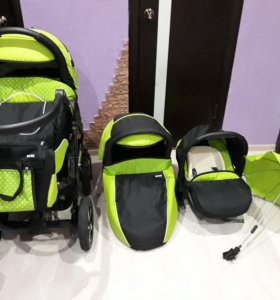 Детская коляска Baby-Merc Deluxe 3 в 1