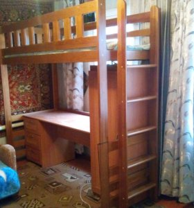 Детская кровать Юнга - чердак