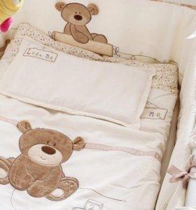 Детский комплект в кроватку и бортики