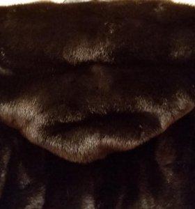 шуба из норки и ягнёнка
