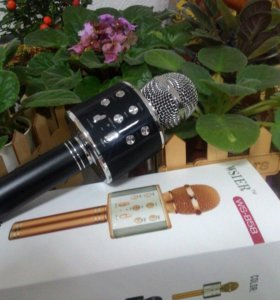 Караоке микрофон-колонка.