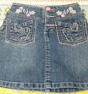 Юбка джинсовая 5-7лет