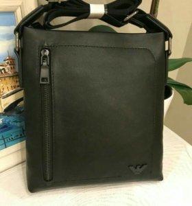 Сумка мужская Armani black leather