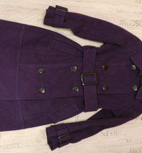 Женское шерстяное пальто, резмер M