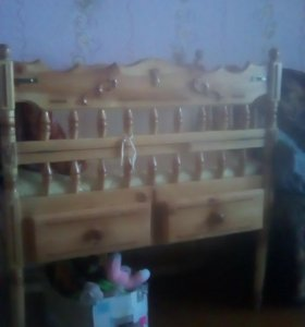 Кроватка кочалка