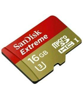Новая microSD 16g