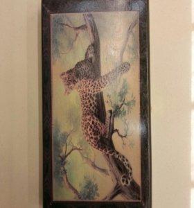 Нарды 20*40 см Леопард