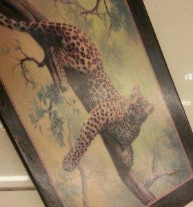 Нарды 25*50 см Леопард