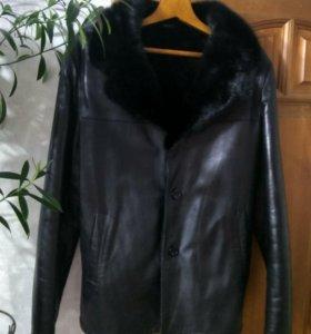 Зимняя куртка-дубленка