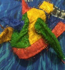 Карнавальная шапка петрушки детско- взрослая