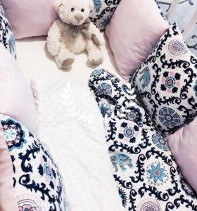 Бортики постельное белье