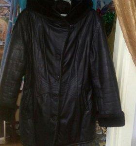 Куртка кожаная зимняя р48