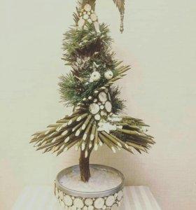 Новогодние елки ручной работы