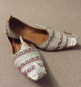 Туфли кожаные ручной работы