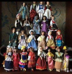 Фарфоровые куклы народов мира