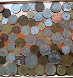 Монеты иностранцы 75 шт. без повторов!