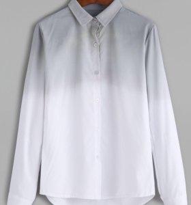 Рубашка с эффектом омбре.