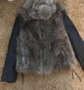 Куртка натуральный песец и джинс