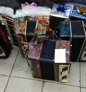 Баяны и аккордеон ассортименте