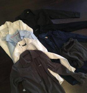 5 рубашек и водолазка для школьника пакетом