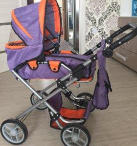 Игрушечная детская коляска