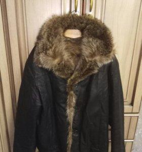 Куртка Кожинна с натуральным мехом